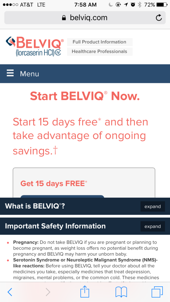 Discount Coupon for Belviq